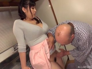 Venerable tramp finally the House busty Nonami Shizuka into satisfactory his gumshoe