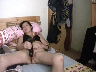 Chinese decomposed masturbating on hacked webcam